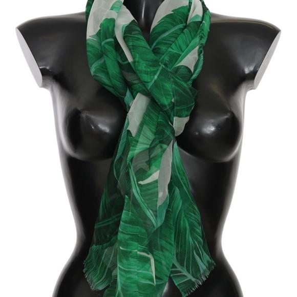 1ca301ed Dolce & Gabbana Accessories | Nwt Dolce Gabbana Banana Leaf Scarf ...